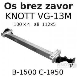 Aksa Knott do 1300 kg brez zavor B1500 112x5 ali 100x4