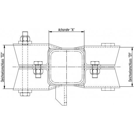 Spojnica Knott osovine-akse 80x80 in enojne rude 100 mm