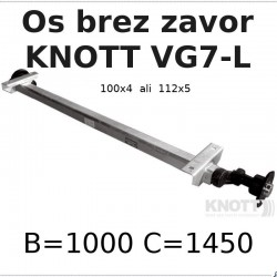 Aksa Knott 750kg brez zavor B1000 100x4 ali 112x5