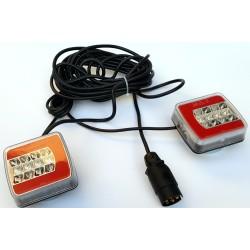 LED komplet luči za prikolico z magneti (7,5m kabel)