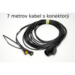 Priključni kabel 13 polni vtikač, dolg 7m, z izhodi 4,7m, Aspock