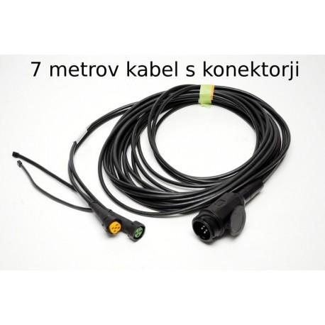 Priključni kabel 13 pol vtikač, dolžina 7m z izhodi, Aspock