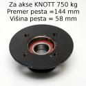 Pesto Knott 100X4, za akse Knott NDM 750 kg VG7-L