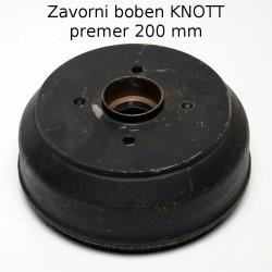 Zavorni boben Knott, 200x50 100x4 - stari tip