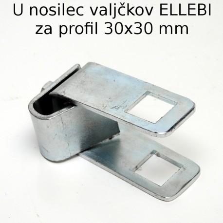 U nosilec valjčkov Ellebi 30x30 mm